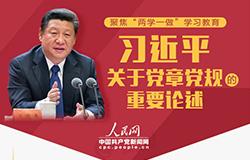 习近平关于党章党规的重要论述