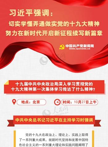 图解:十九届中共中央政治局深入学习贯彻党的十九大精神第一次集体学习