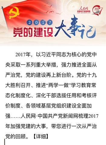 2017党的建设大事记